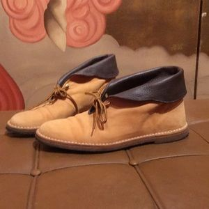 Chloe Suede and Leather Desert Boots 39.5